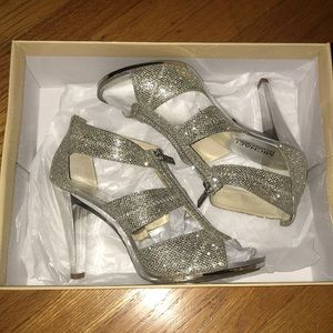 Micheal Kors sparkly silver high heels